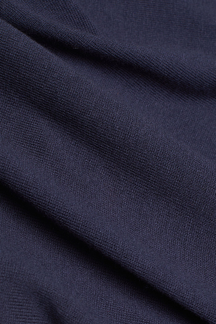 Polo neck jumper with organic cotton, NAVY, detail image number 4