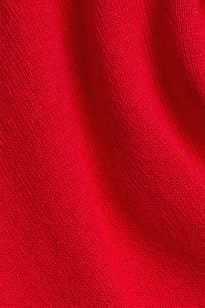 Polo neck jumper with organic cotton, RED, detail image number 4