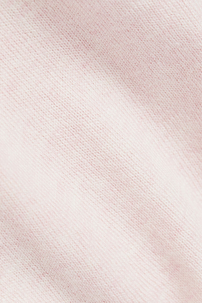 Polo neck jumper with organic cotton, LIGHT PINK, detail image number 4