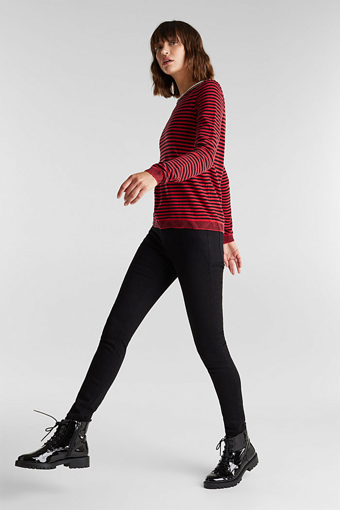 Jumper made of 100% organic cotton, RED, detail image number 1