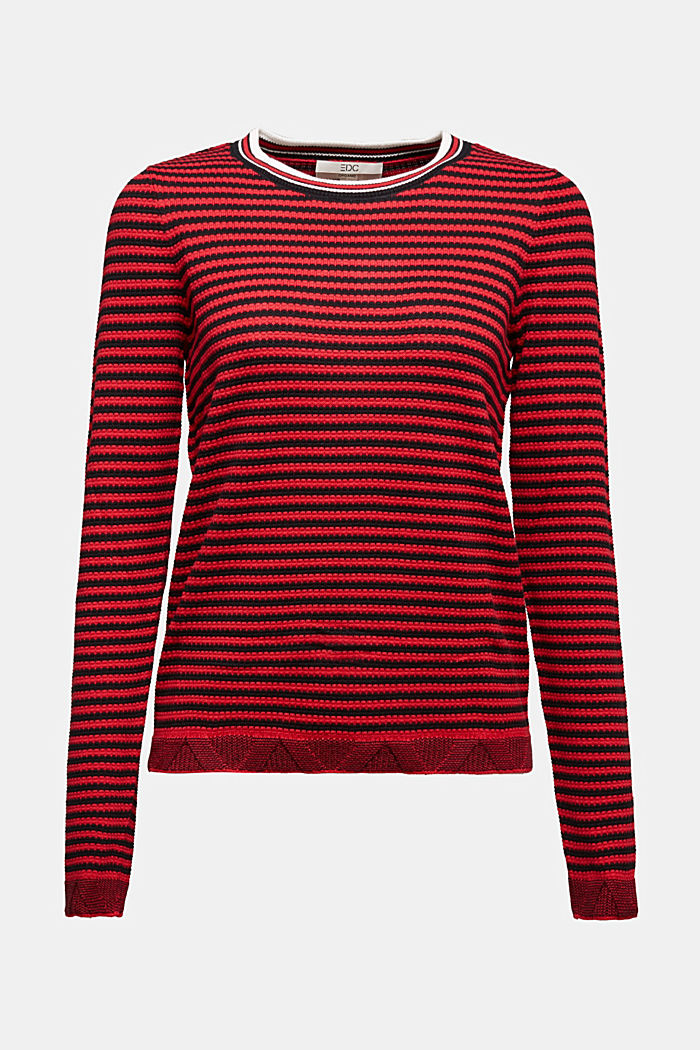 Jumper made of 100% organic cotton, RED, detail image number 5