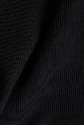 Jumper with a stand-up collar and organic cotton, BLACK, detail