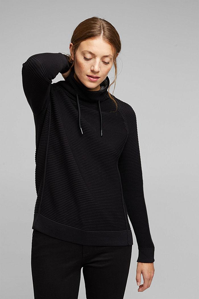 Jumper made of 100% organic cotton, BLACK, detail image number 0