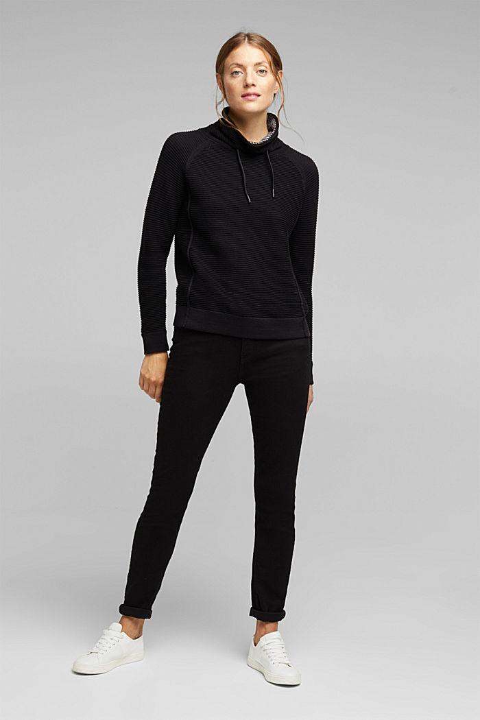 Jumper made of 100% organic cotton, BLACK, detail image number 1