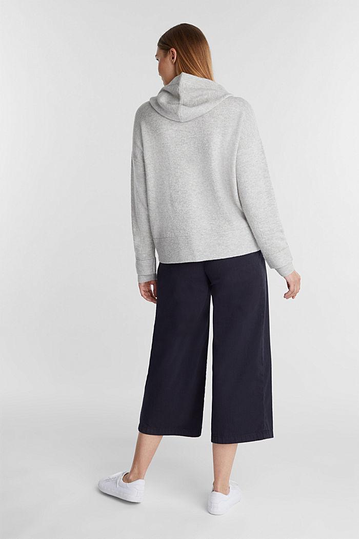 Stretch wool hoodie, LIGHT GREY, detail image number 3