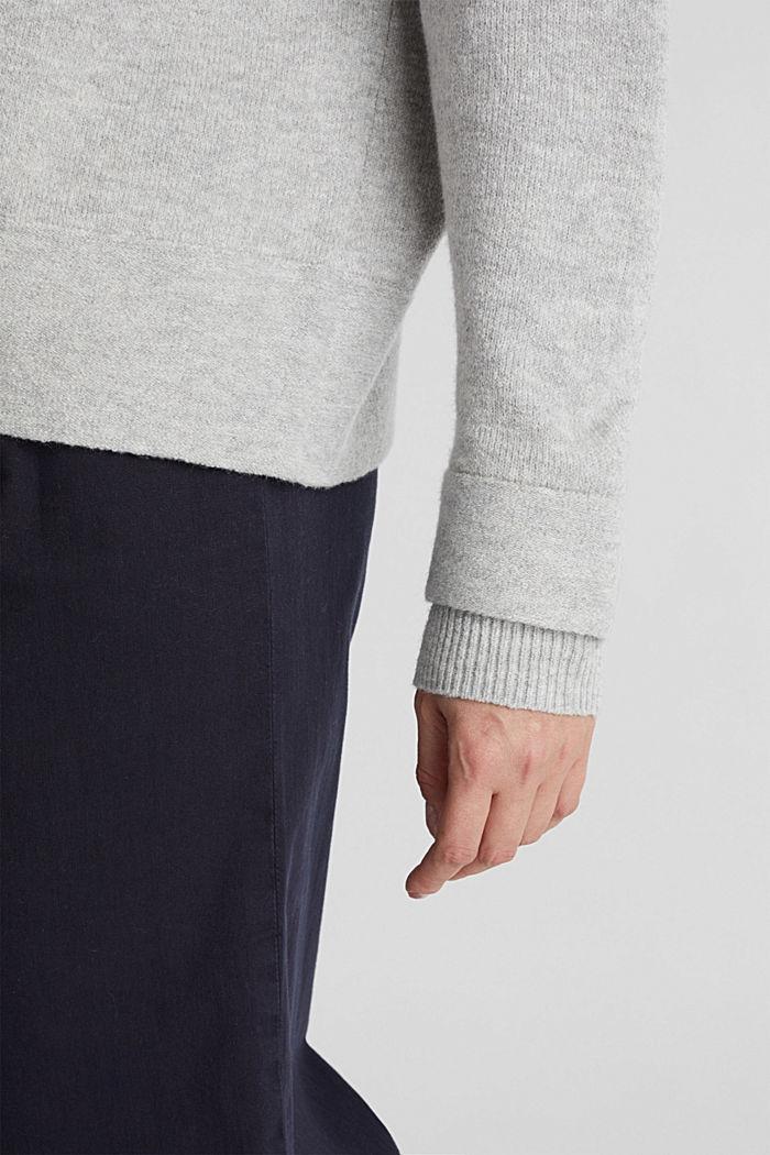 Stretch wool hoodie, LIGHT GREY, detail image number 2