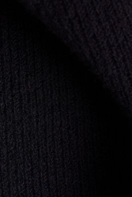 Open-fronted hooded cardigan, BLACK, detail