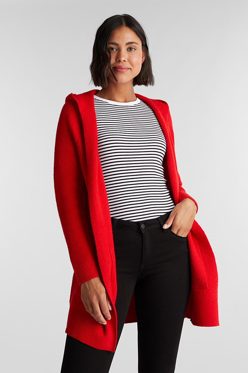 Open-fronted hooded cardigan