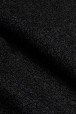 Bouclé jumper with wool, BLACK, detail