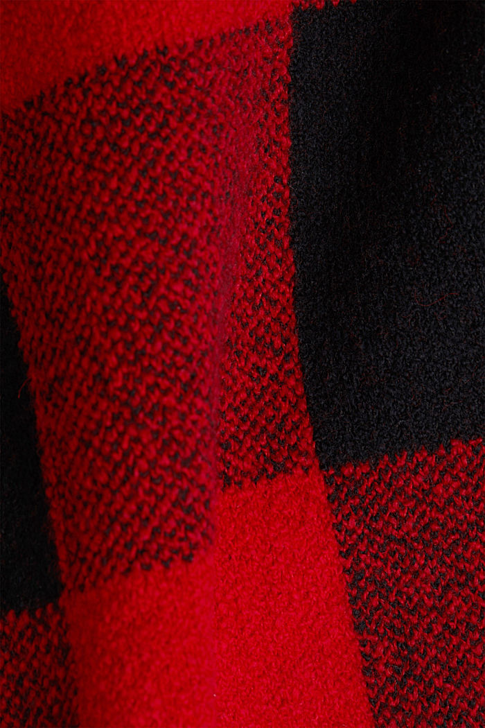 Jumper with jacquard checks, RED, detail image number 4