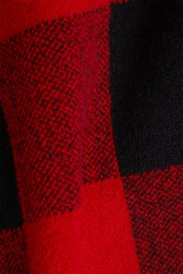 Jumper with jacquard checks, RED, detail