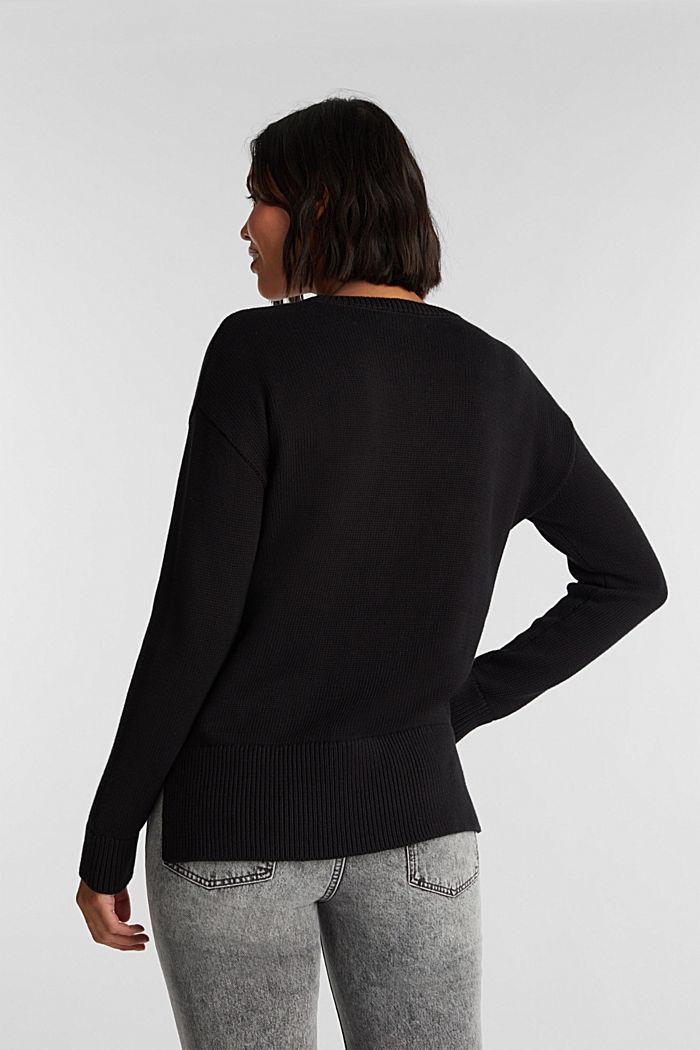 Jumper made of 100% organic cotton, BLACK, detail image number 3