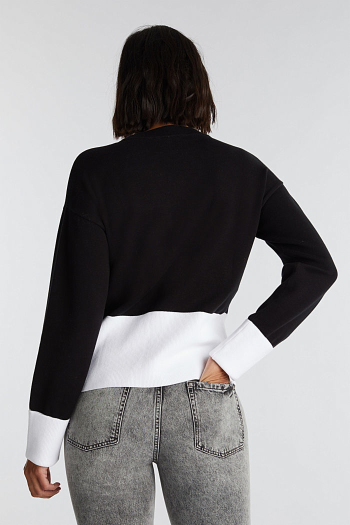 Pullover aus Baumwoll-Mix, BLACK, detail image number 3
