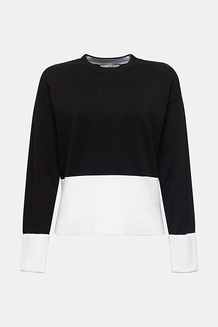 Pullover aus Baumwoll-Mix, BLACK, detail image number 5