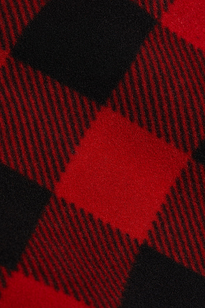 Recycled: Flannel shirt jacket with checks, RED, detail image number 4