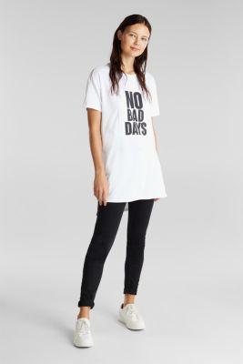 Statement T-shirt, 100% organic cotton, WHITE, detail