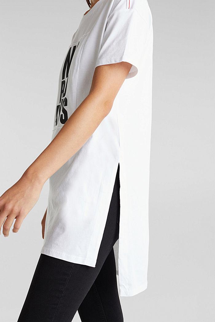 Statement-T-Shirt, 100% Organic Cotton, WHITE, detail image number 5