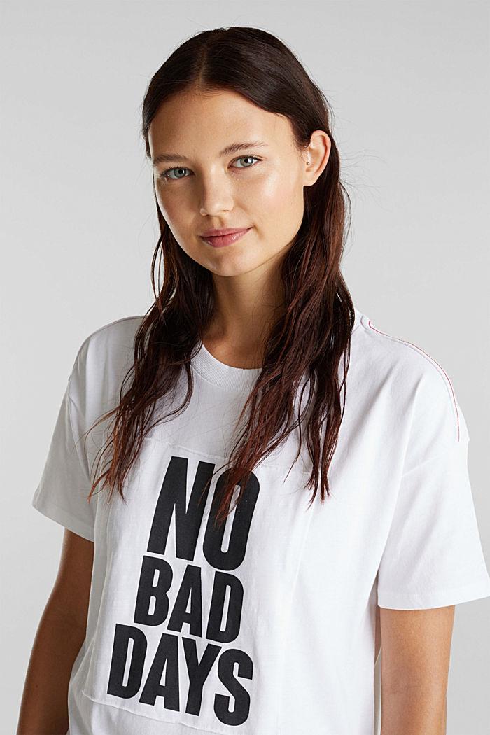 Statement T-shirt, 100% organic cotton, WHITE, detail image number 6