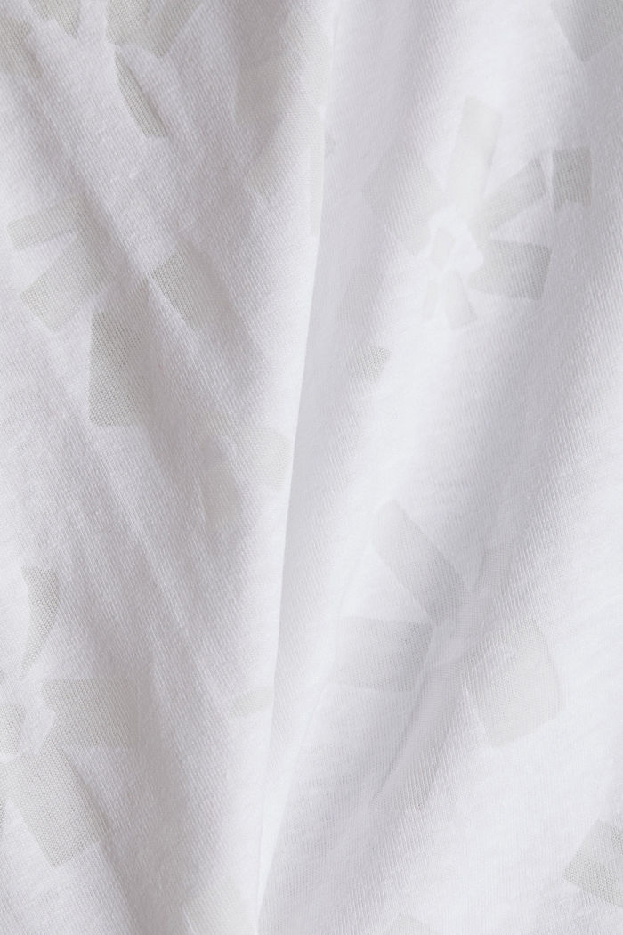 Recycled devoré top, WHITE, detail image number 4