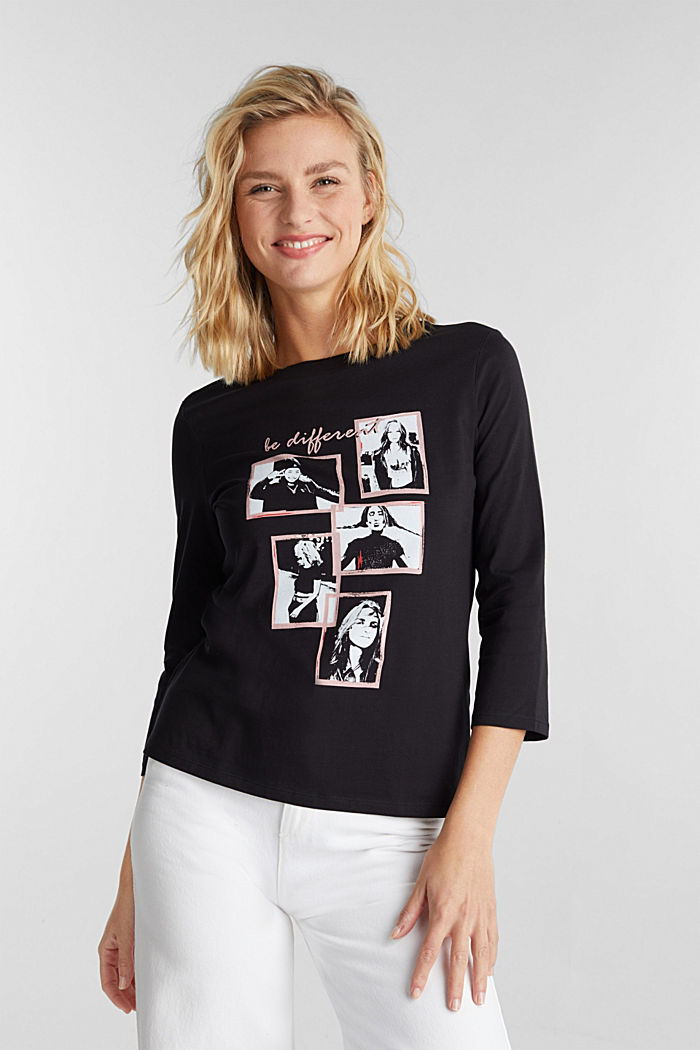 A statement T-shirt in 100% organic cotton, BLACK, detail image number 0