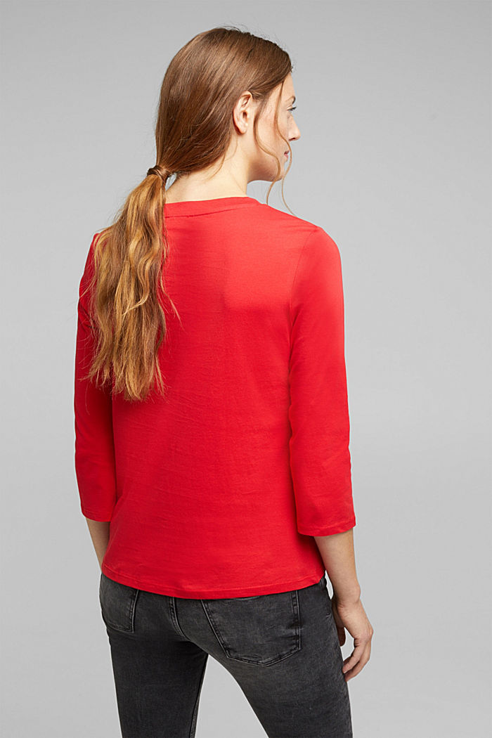 A statement T-shirt in 100% organic cotton, RED, detail image number 3