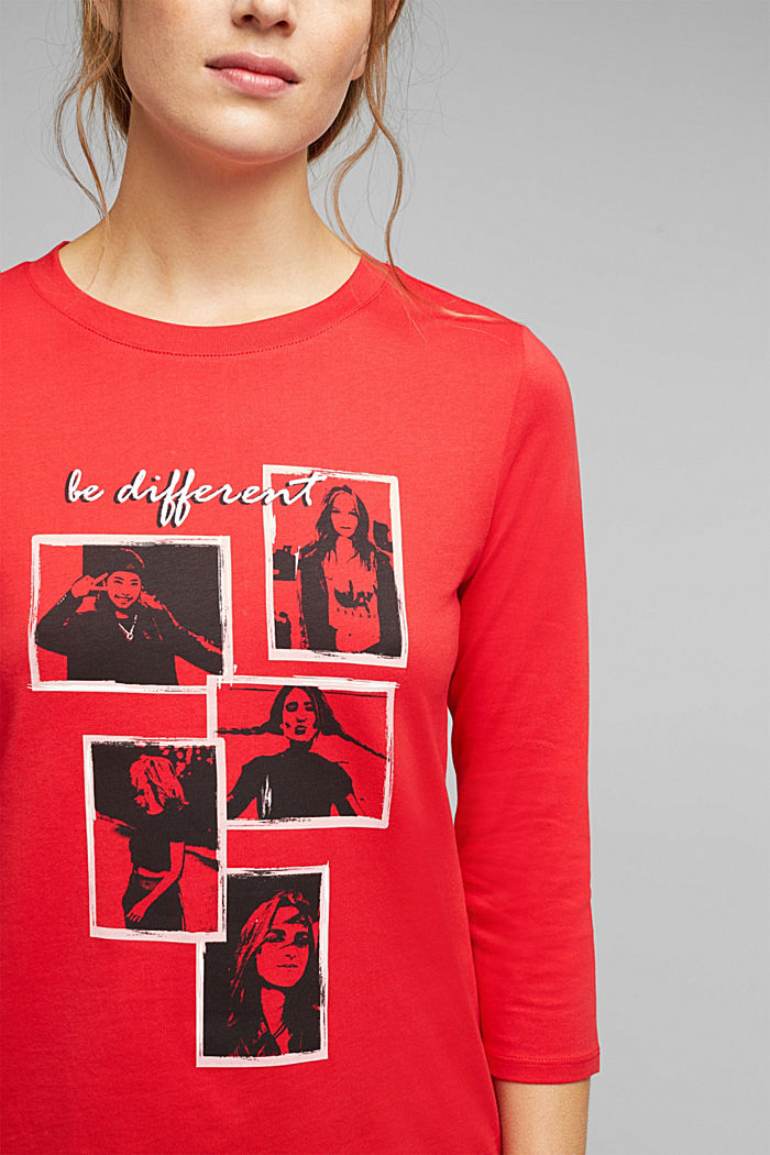A statement T-shirt in 100% organic cotton, RED, detail image number 2