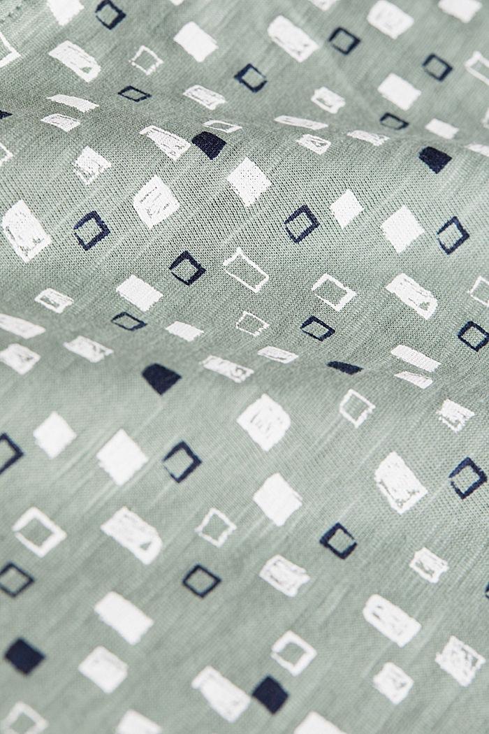 Printed long sleeve top in organic cotton, LIGHT KHAKI, detail image number 4