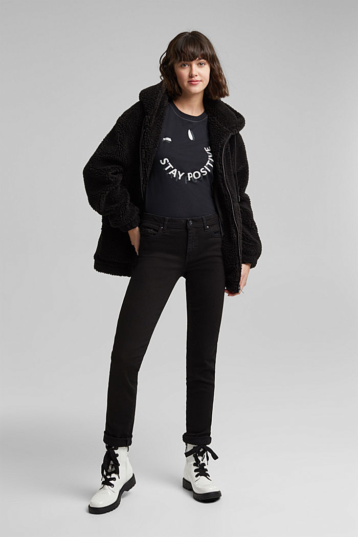 T-shirt made of 100% organic cotton, BLACK, detail image number 1