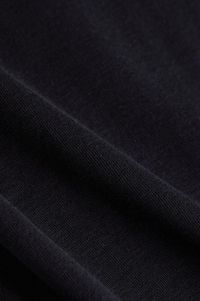 Feminine long sleeve top made of organic cotton, BLACK, detail image number 4