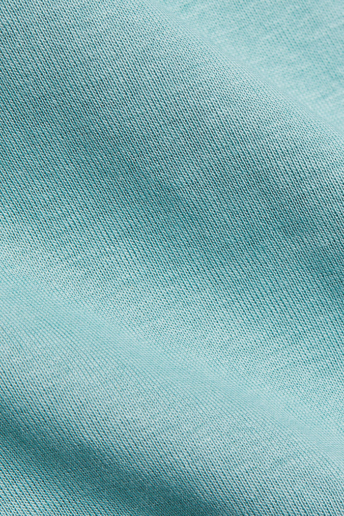 Feminine long sleeve top made of organic cotton, DUSTY GREEN, detail image number 4