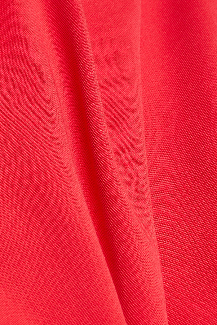 Sweatshirt in a layered look, organic cotton, RED, detail image number 4
