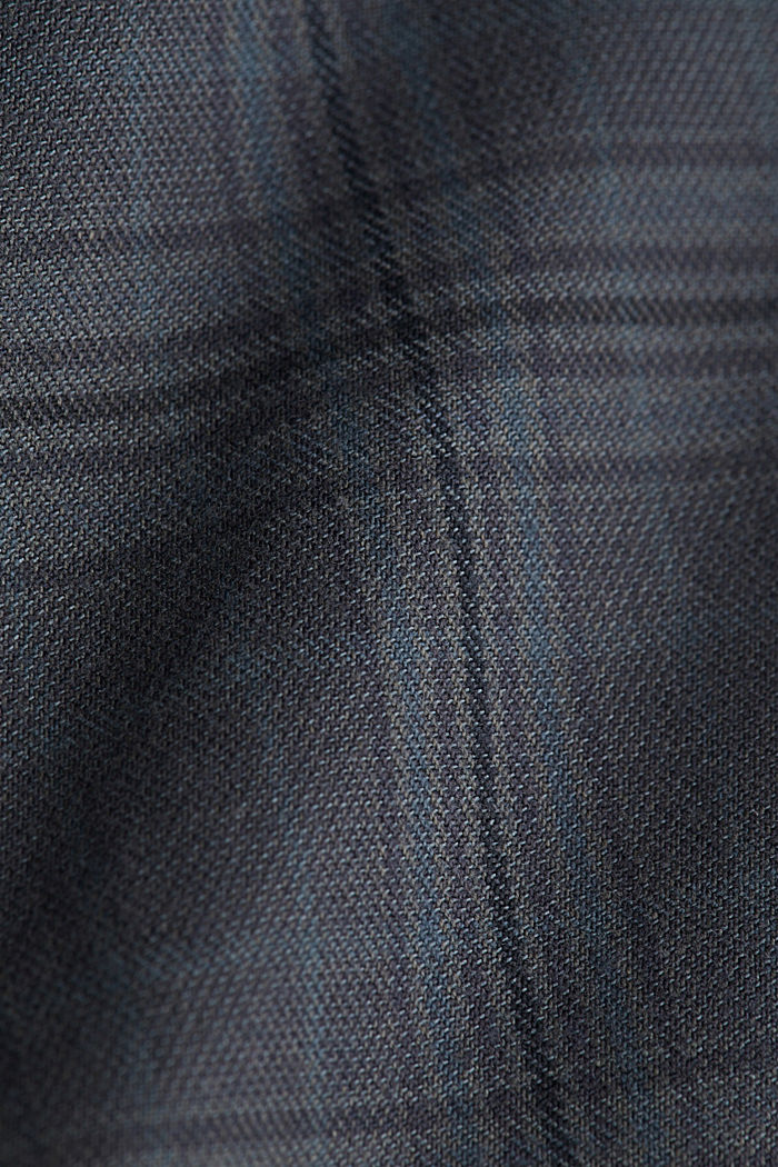 Prince of Wales check chinos with added stretch for comfort, DARK GREY, detail image number 3
