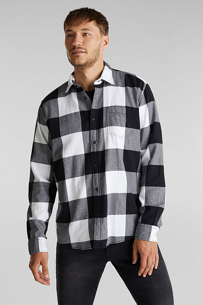 Flannel shirt made of 100% organic cotton, BLACK, detail image number 0