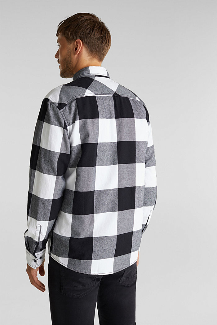 Flannel shirt made of 100% organic cotton, BLACK, detail image number 3