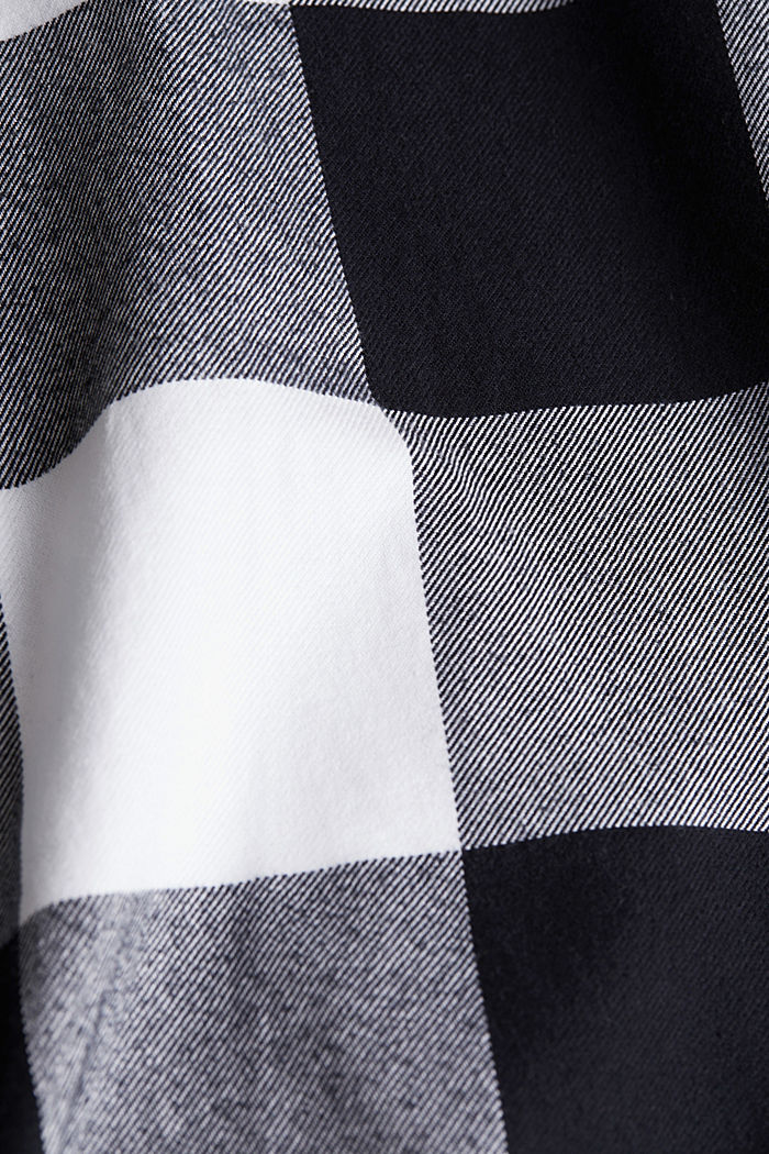 Flannel shirt made of 100% organic cotton, BLACK, detail image number 4