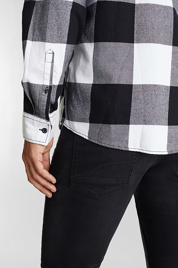 Flannel shirt made of 100% organic cotton, BLACK, detail image number 5