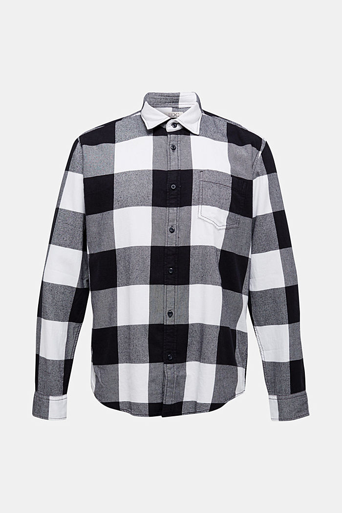 Flannel shirt made of 100% organic cotton, BLACK, detail image number 6