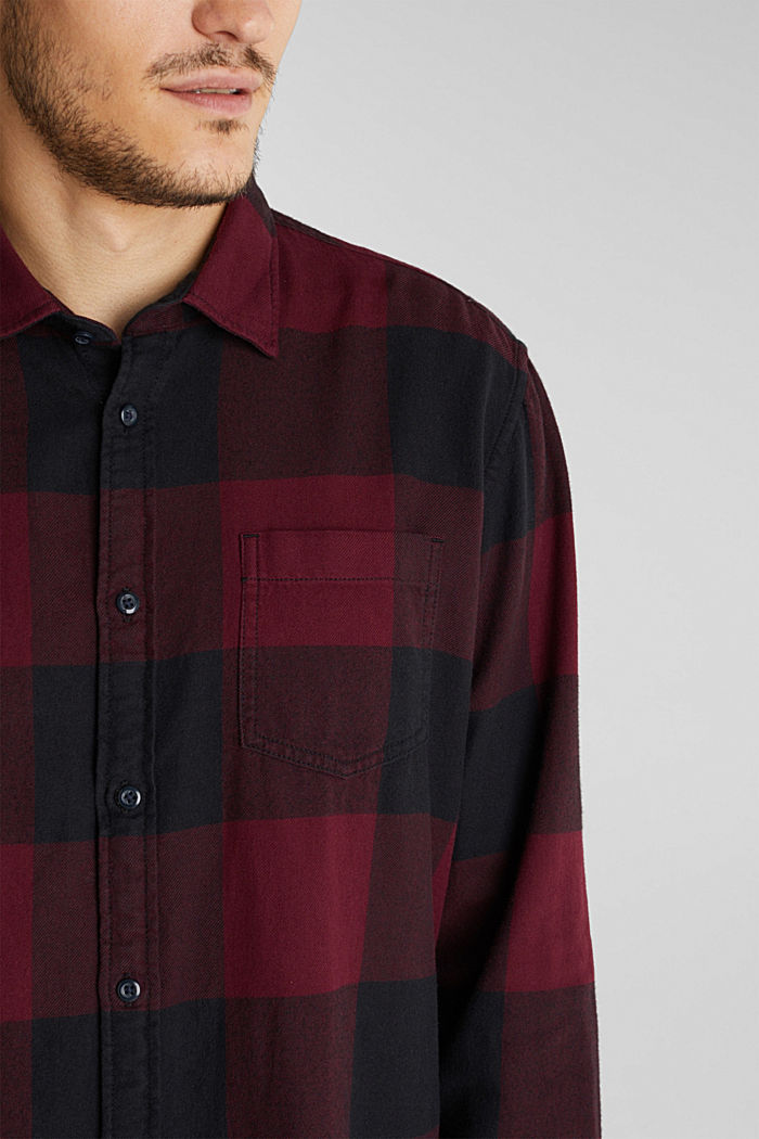 Flanell-Hemd aus 100% Organic Cotton, BORDEAUX RED, detail image number 2