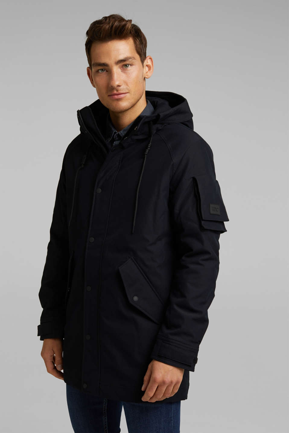 edc - Padded parka with a hood