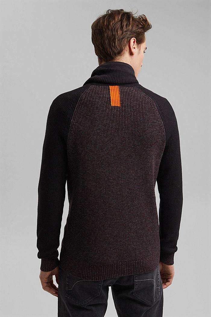 Jumper made of 100% organic cotton, BLACK, detail image number 2