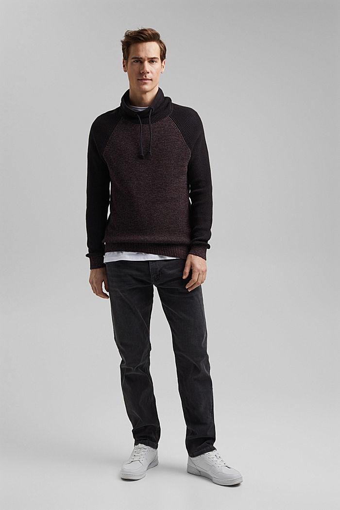 Jumper made of 100% organic cotton, BLACK, detail image number 5