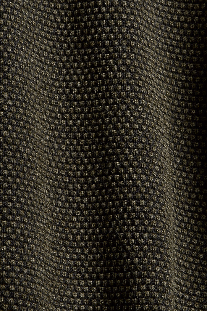 Textured jumper, 100% organic cotton, KHAKI GREEN, detail image number 4