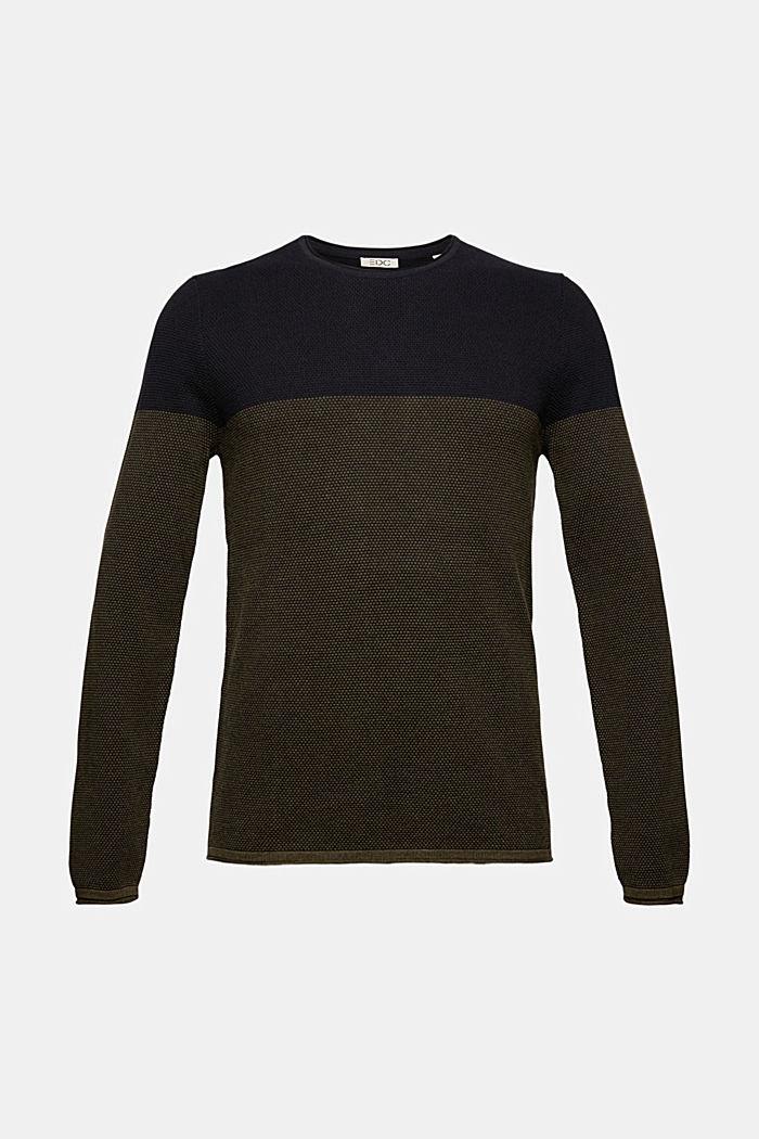 Fakturowany sweter, 100% bawełny organicznej
