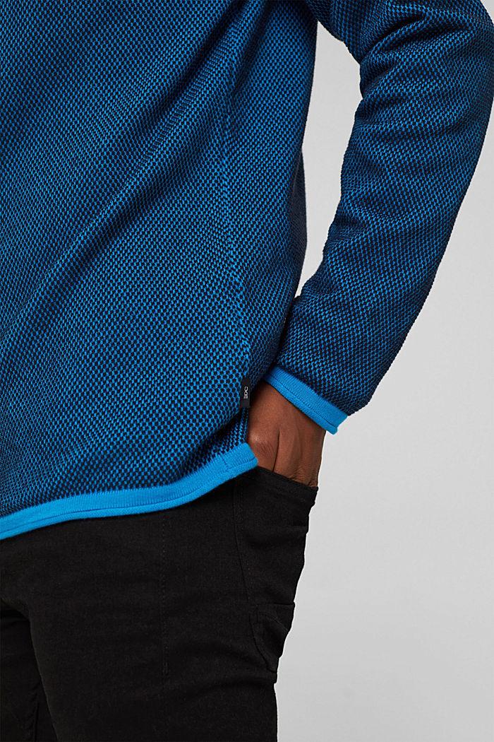 Struktur-Pullover, 100% Organic Cotton, BLUE, detail image number 2