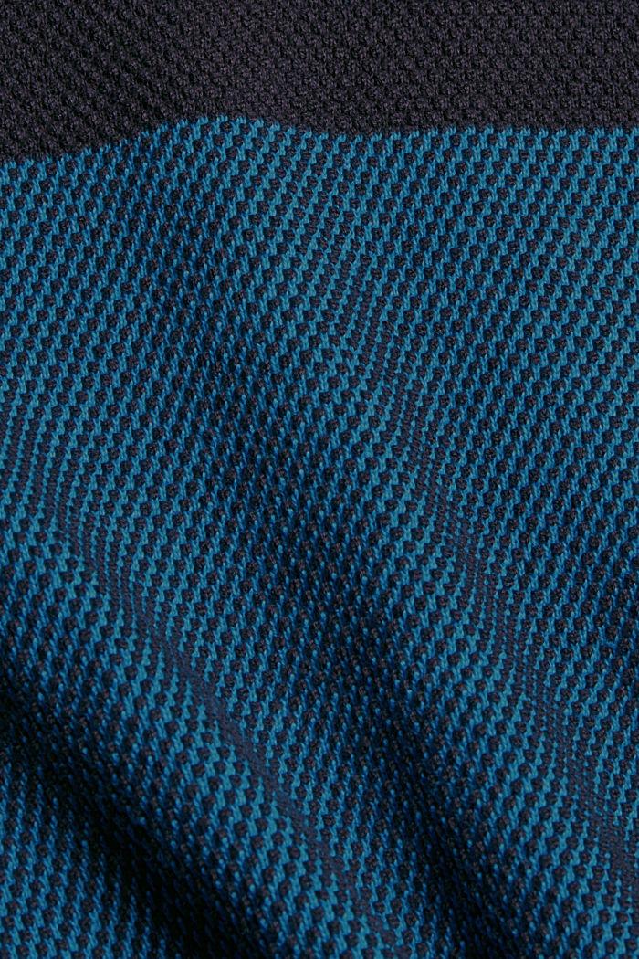 Struktur-Pullover, 100% Organic Cotton, BLUE, detail image number 4
