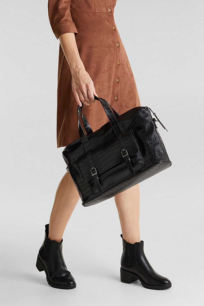 Vegan: faux leather business bag