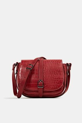 Susie T. shoulder bag, DARK RED, detail