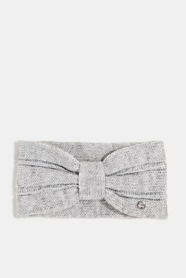 Headband with wool, LIGHT GREY, detail