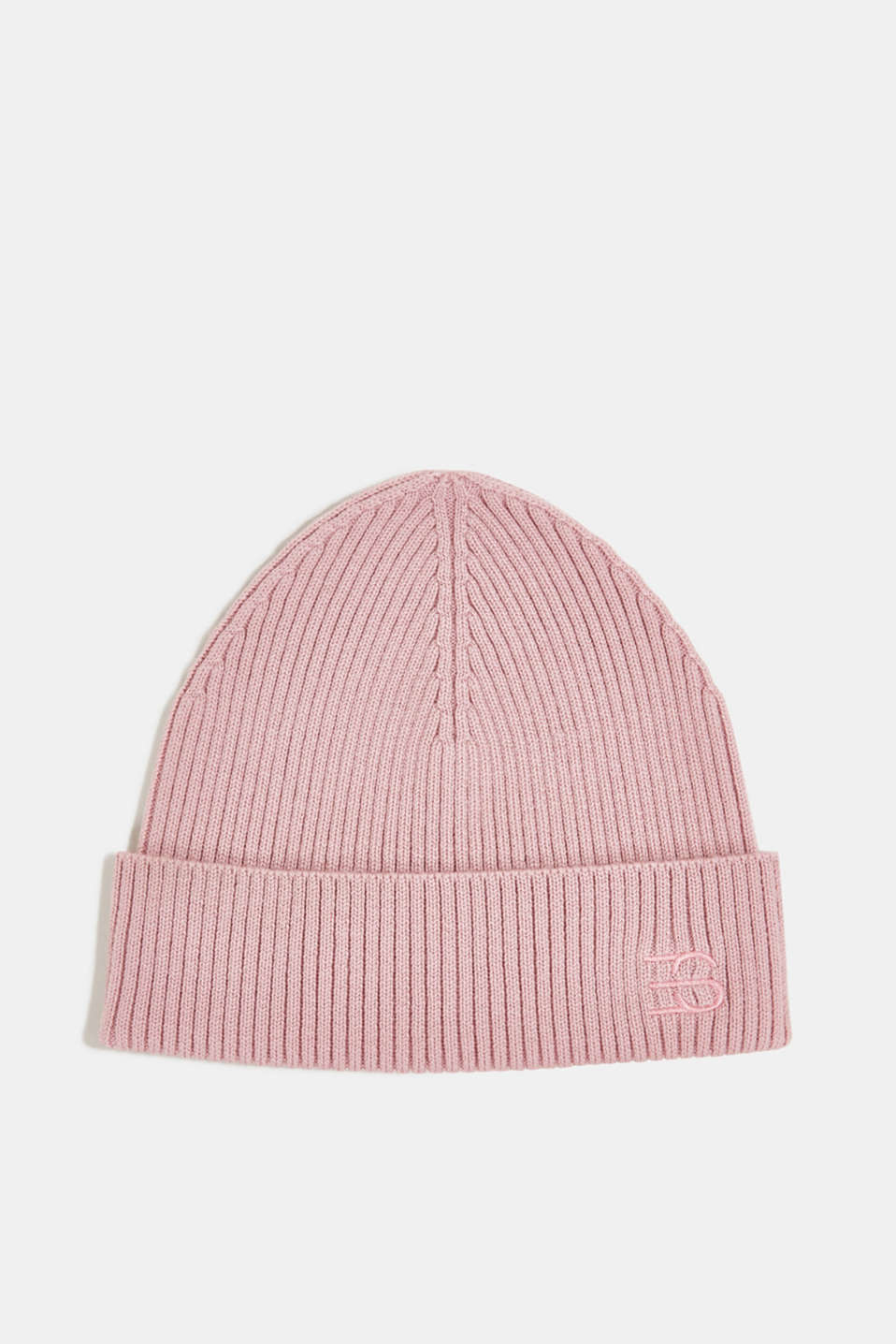 Esprit - Rib knit beanie made of blended wool