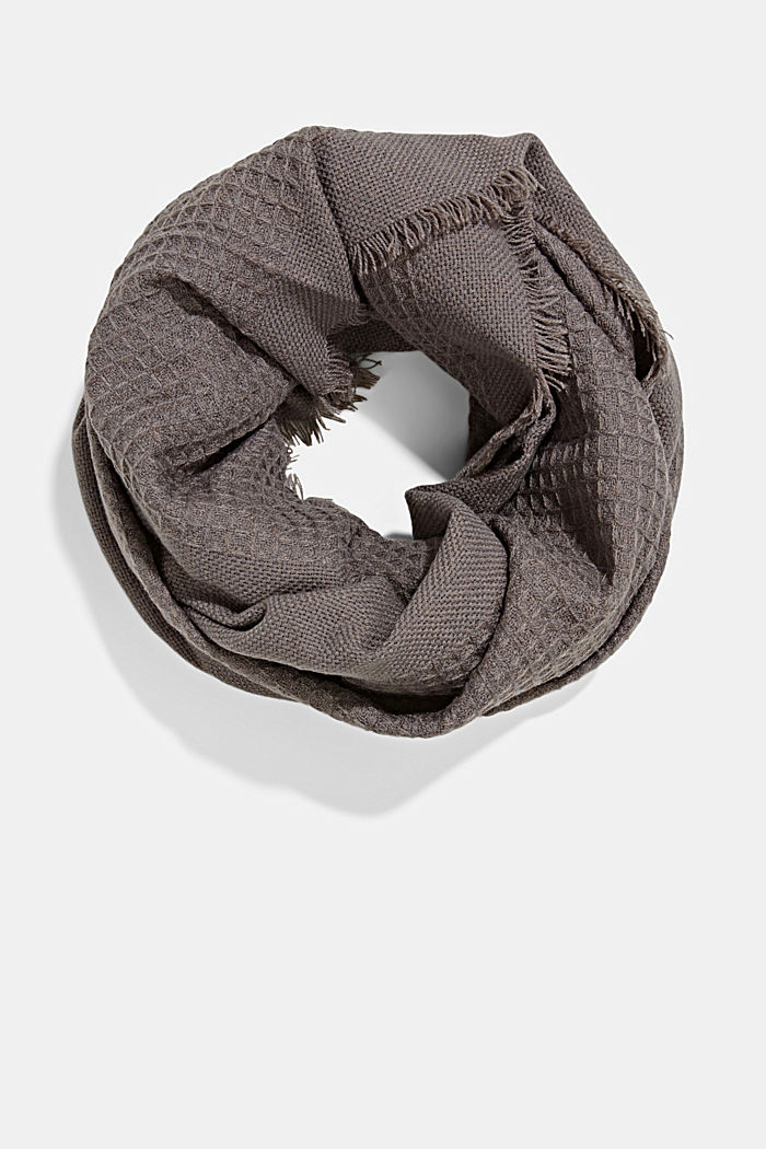 Recycled: mixed texture woven scarf